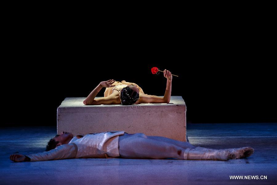 Ballet Romeo and Juliet performed in E China