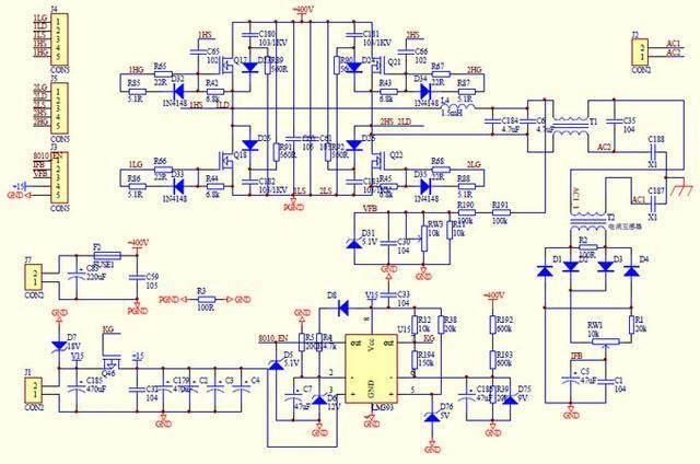 分享一台24v 2000w电源逆变器带电路图设计原理