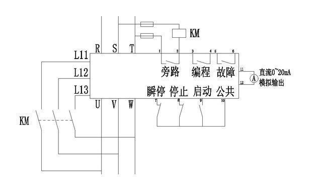 电工知识:软启动器怎么接线?一张电路图一张实物图供大家参考